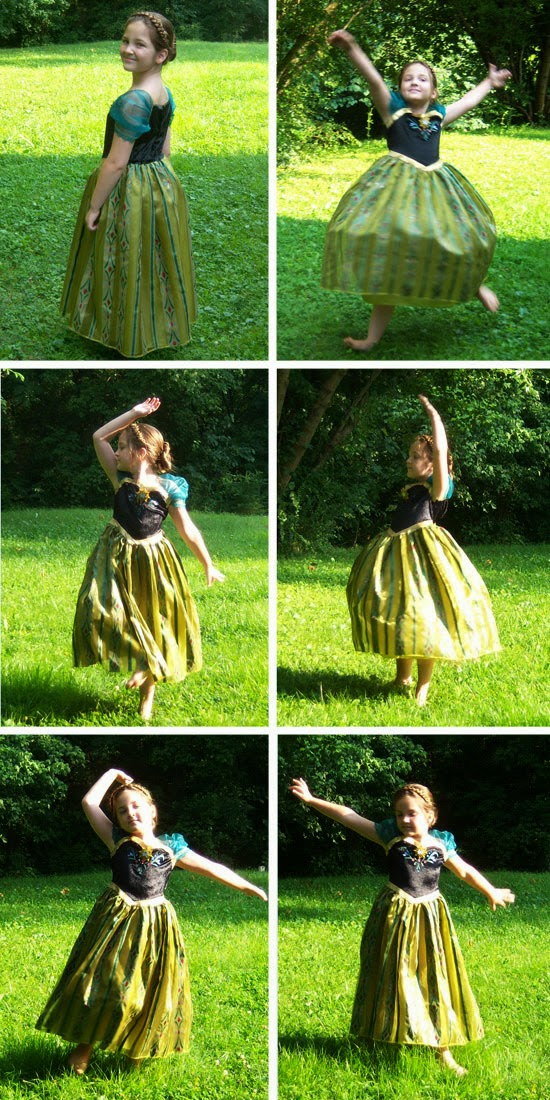 Disney Frozen Costume: Anna's Coronation Gown dancing