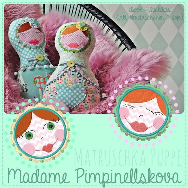 Stickdatei und Ebook Matruschka Puppe bei Huups! erhältlich