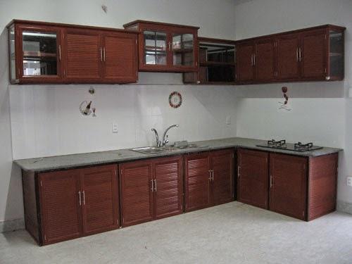 tủ bếp nhôm kính treo tường 8