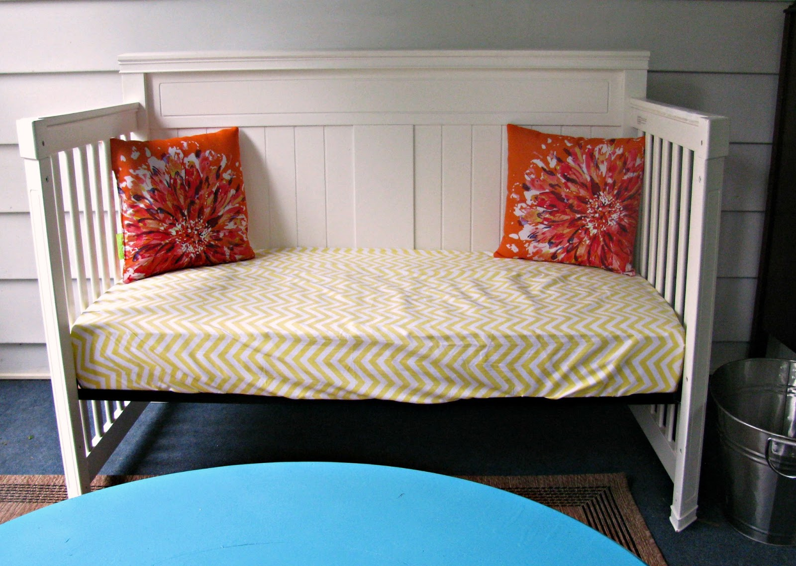 October morning crib turned porch daybed for Cradle bed for adults