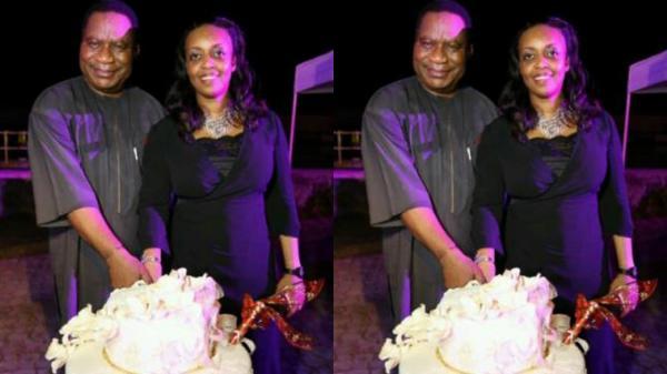 Diezani Alison Madueke and husband Admiral Alison Madueke