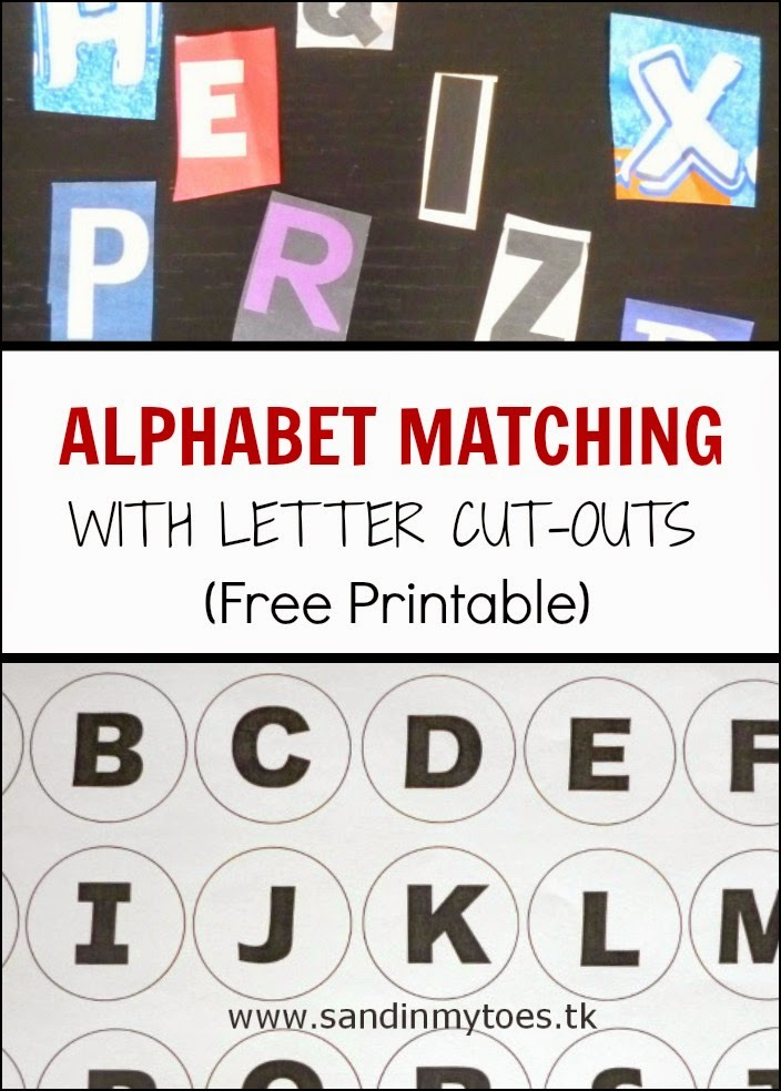 Alphabet Matching Activity with Letter Cut-Outs (and Free Printable)