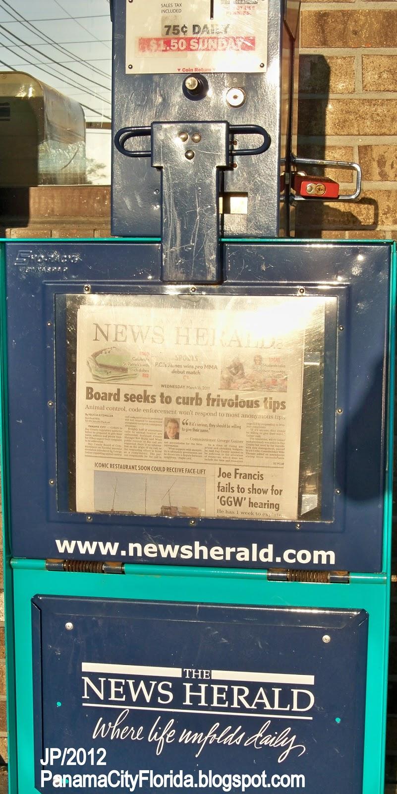 Newspaper panama city florida bay county fl news herald daily paper