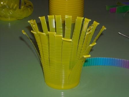 Decoraci n con vasos de pl stico - Decorar vasos plasticos para cumpleanos ...