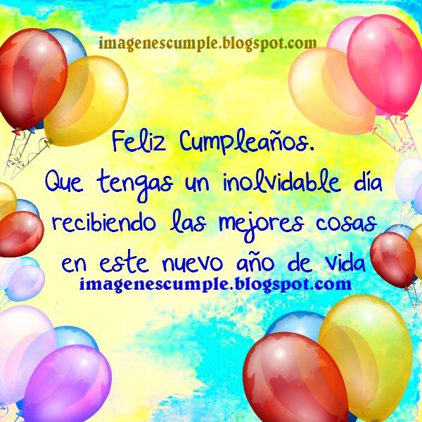 imagenes cumpleaños gratis bonitos saludos para amiga, amigo, familia, hermanos.