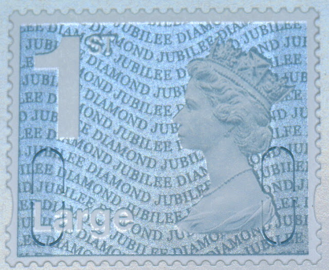 1st class large letter diamond jubilee stamp from retail booklet.