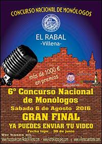6º CONCURSO MONÓLOGOS EL RABAL VILLENA 2016