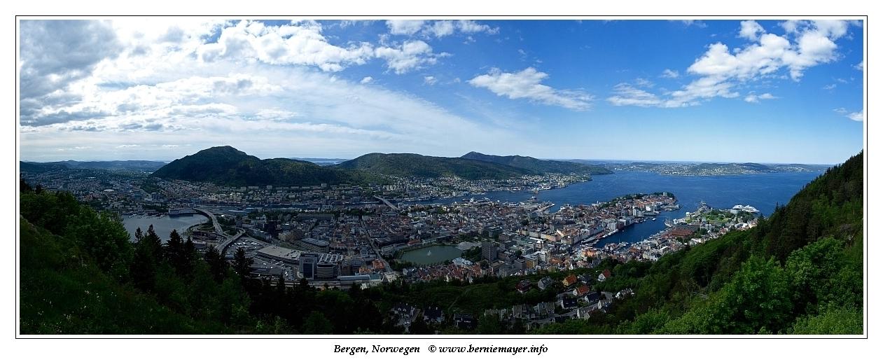 Bergen vom Fløyen