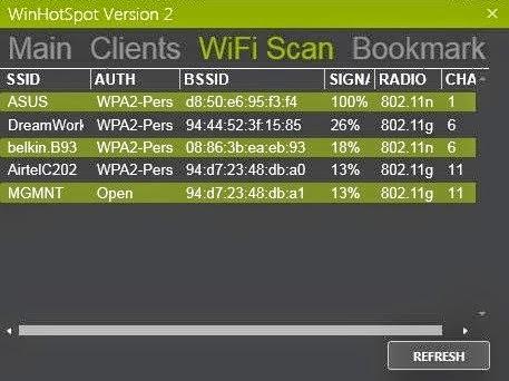 برنامج مجاني لتحويل الكمبيوتر الي رواتر لاسلكي وموزع أنترنت عبر واي فاي Winhotspot WiFi Router 2