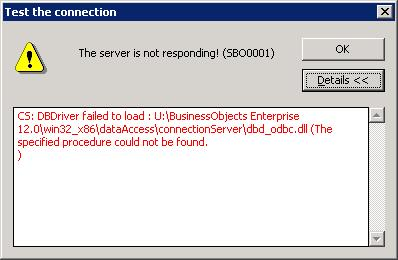 crystal reports application server failed to start