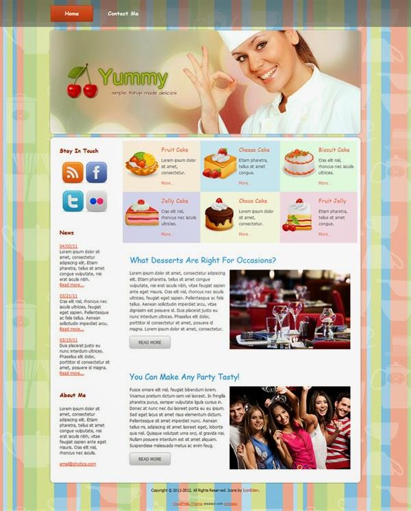 Yummy - Free Wordpress Theme