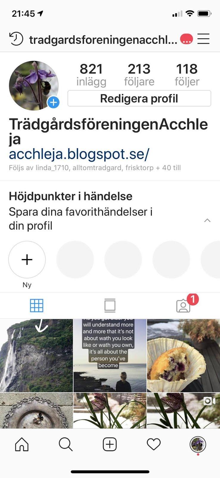 Vi finns på Instagram.