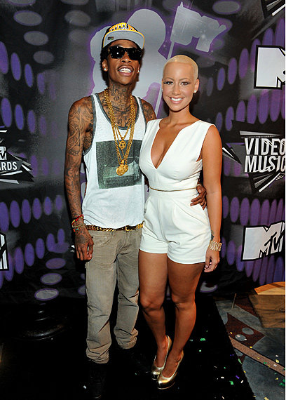Wiz Khalifa With His Wife Amber Rose Wiz Khalifa Will Soon Be Having