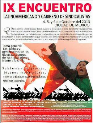IX Encuentro Latinoamericano y Caribeño de Sindicalistas