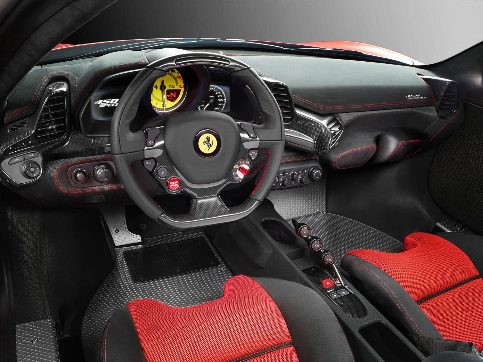 Ferrari 458 Speciale, interior
