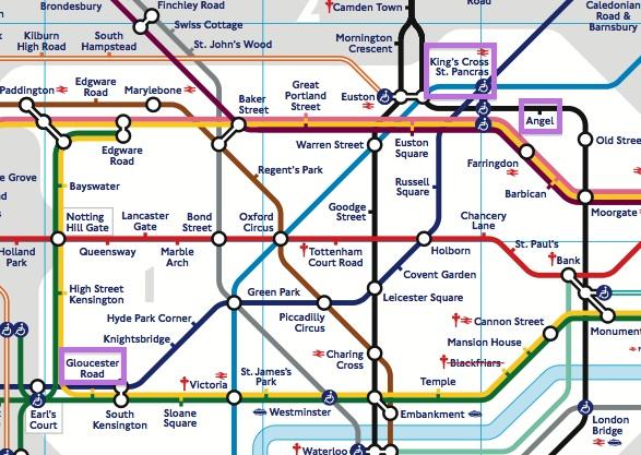 Gloucester Road Underground Map