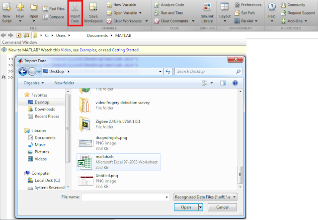 Importing XLS (Excel) file in MATLAB