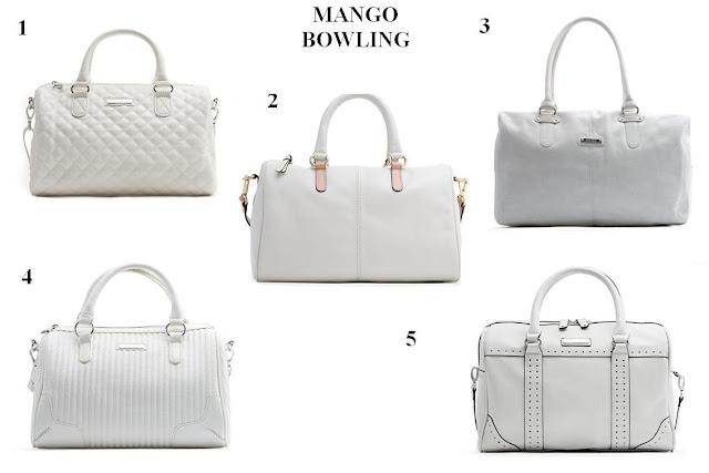 Bolsos blancos Mango P/V 12