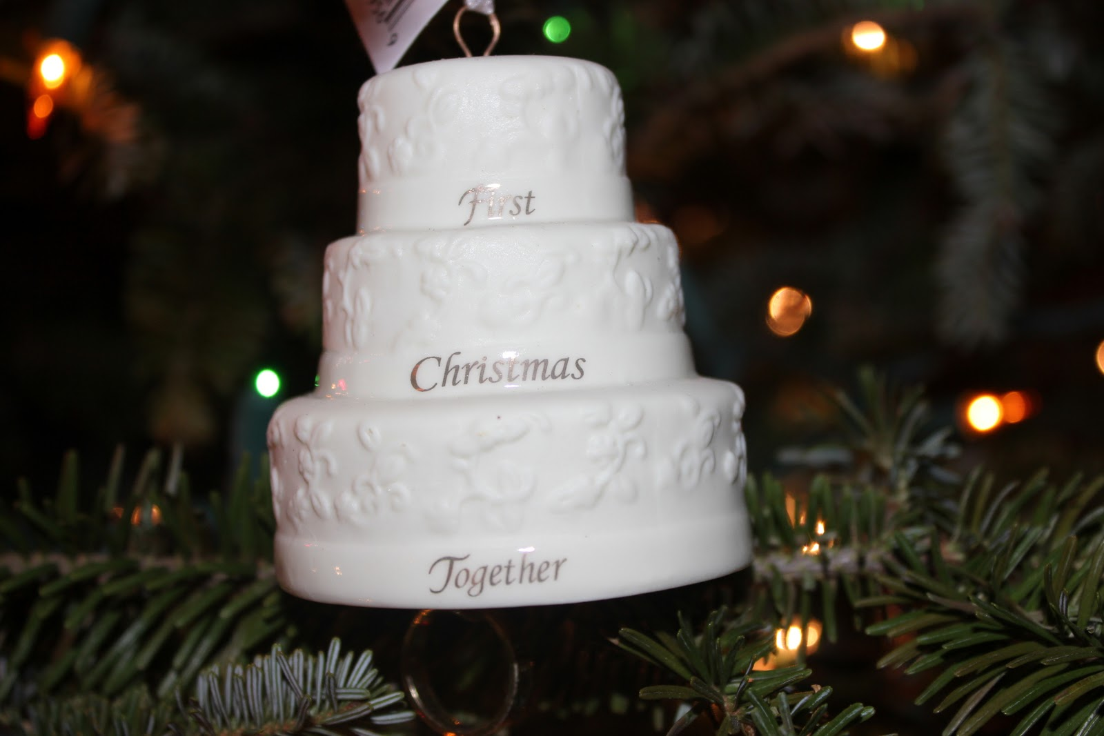First wedding ornament - This Ornament We Got From Mike And Kerry Not Only Is It Personalized With Our Names And Our Initial But It Has Three Lines From Our First Dance Song