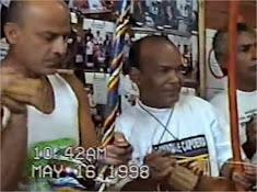 """Gravação do CD """"Capoeira na Escola"""" pelo Grupo Meia Lua em Ceilândia - Distrito Federal"""