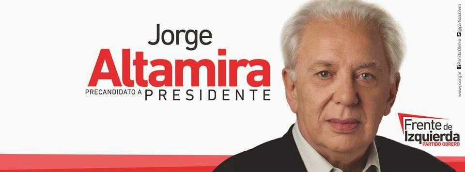 Jorge Altamira, pre candidato a Presidente del Frente de Izquierda