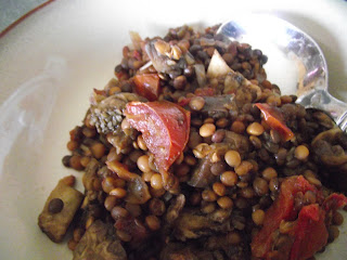 Crockpot Spiced Eggplant and Lentil