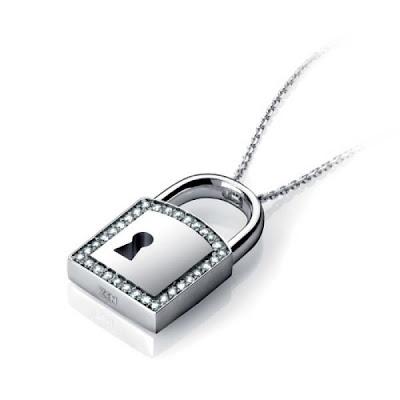 Zen Diamond Asma Kilit Kolye ucu zincir