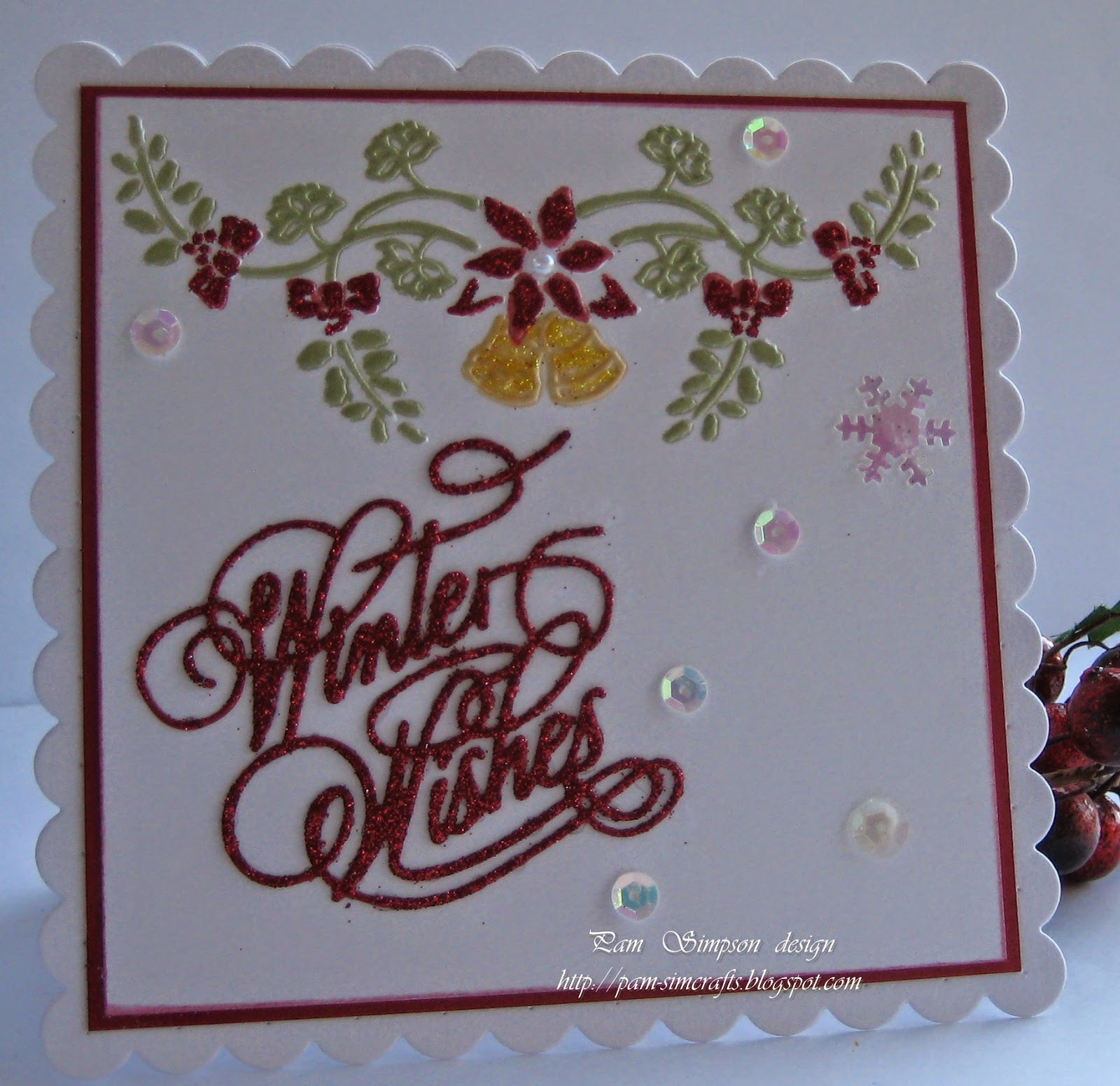 pamscrafts: Embossed Christmas cards.