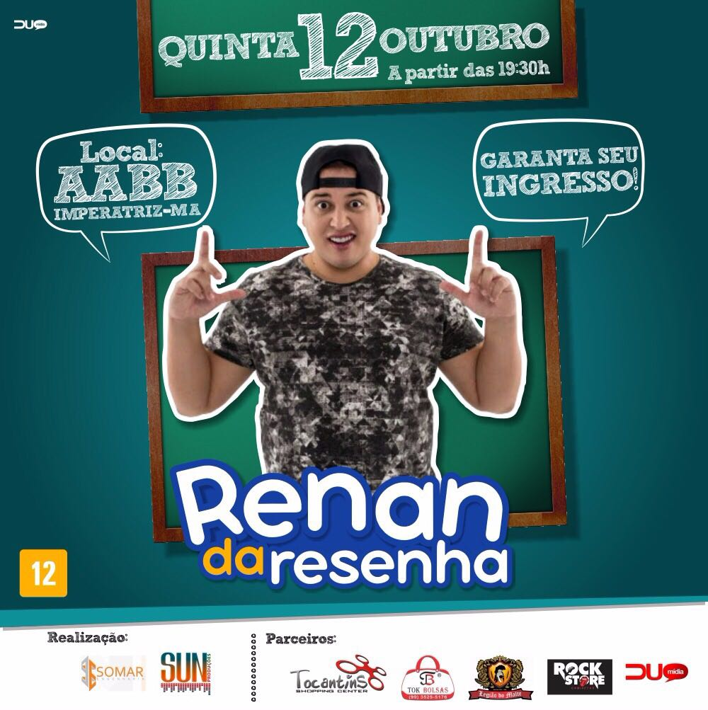 Confirmado Show do Renan da Resenha