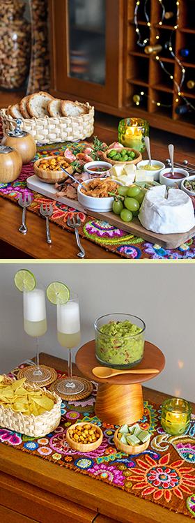 O caminho de mesa peruano + receitas de Guacamole e Pisco Sour