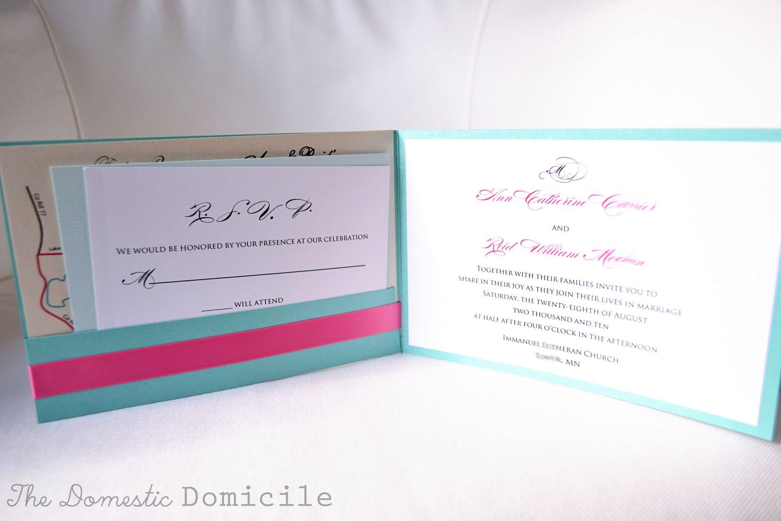 DIY Wedding Revisited: Invitations |The Domestic Domicile