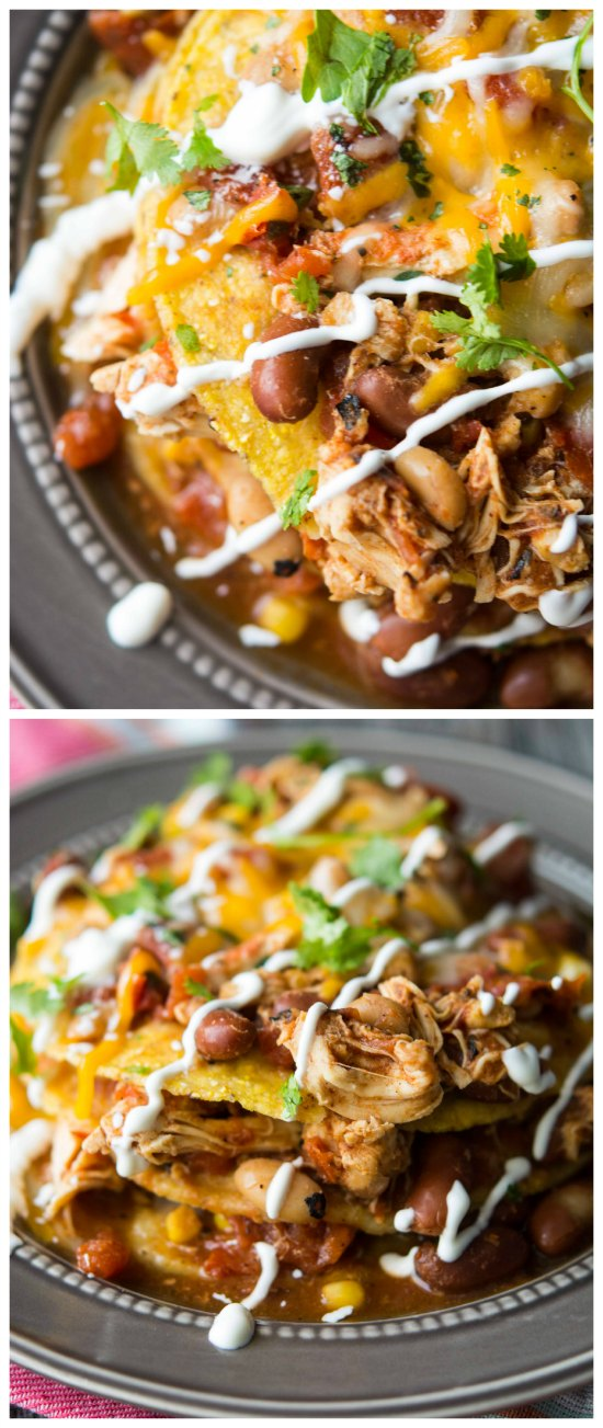 Crockpot Mexican Chili Tortilla Stacks from Crockpot Gourmet found on SlowCookerFromScratch.com