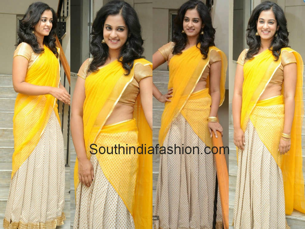 nanditha in half saree