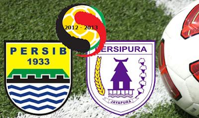 Hasil Pertandingan Persib VS Persipura Skor 1-1.