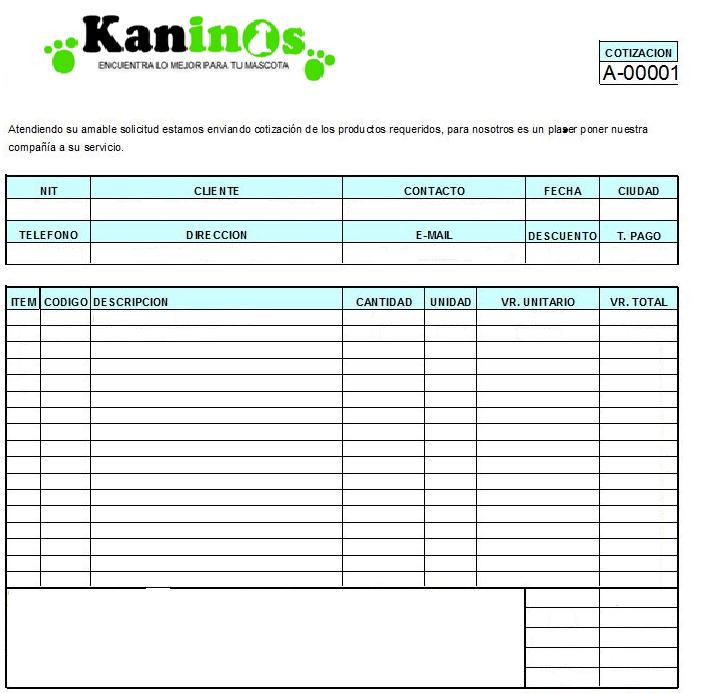 Listado de solicitudes de cotizacin portafolio de cartera for Lista de precios subway