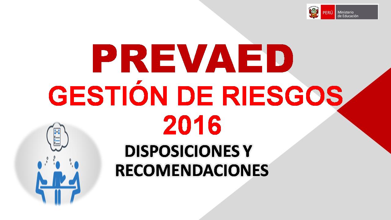 GESTIÓN DE RIESGOS - 2016