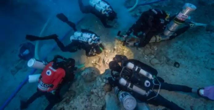 Ανασύρθηκε σκελετός από το Ναυάγιο των Αντικυθήρων