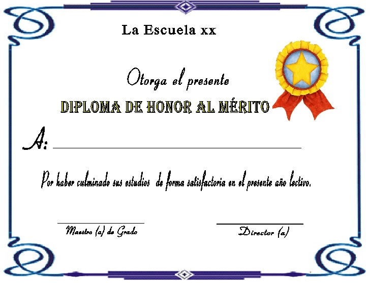 Diplomas de honor al mérito | A mi manera