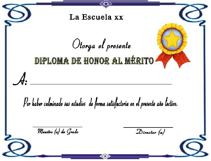 Diplomas Para Imprimir Gratis