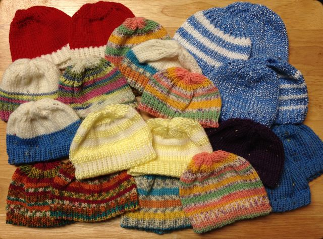 Welcome Home Farm Preemie Hats Machine Knitting Pattern