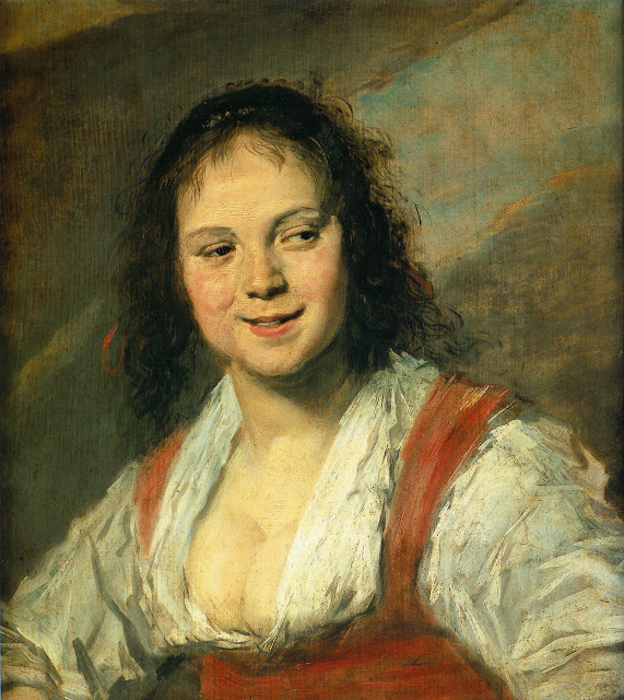 Frans Hals, the gypsy girl,portrait