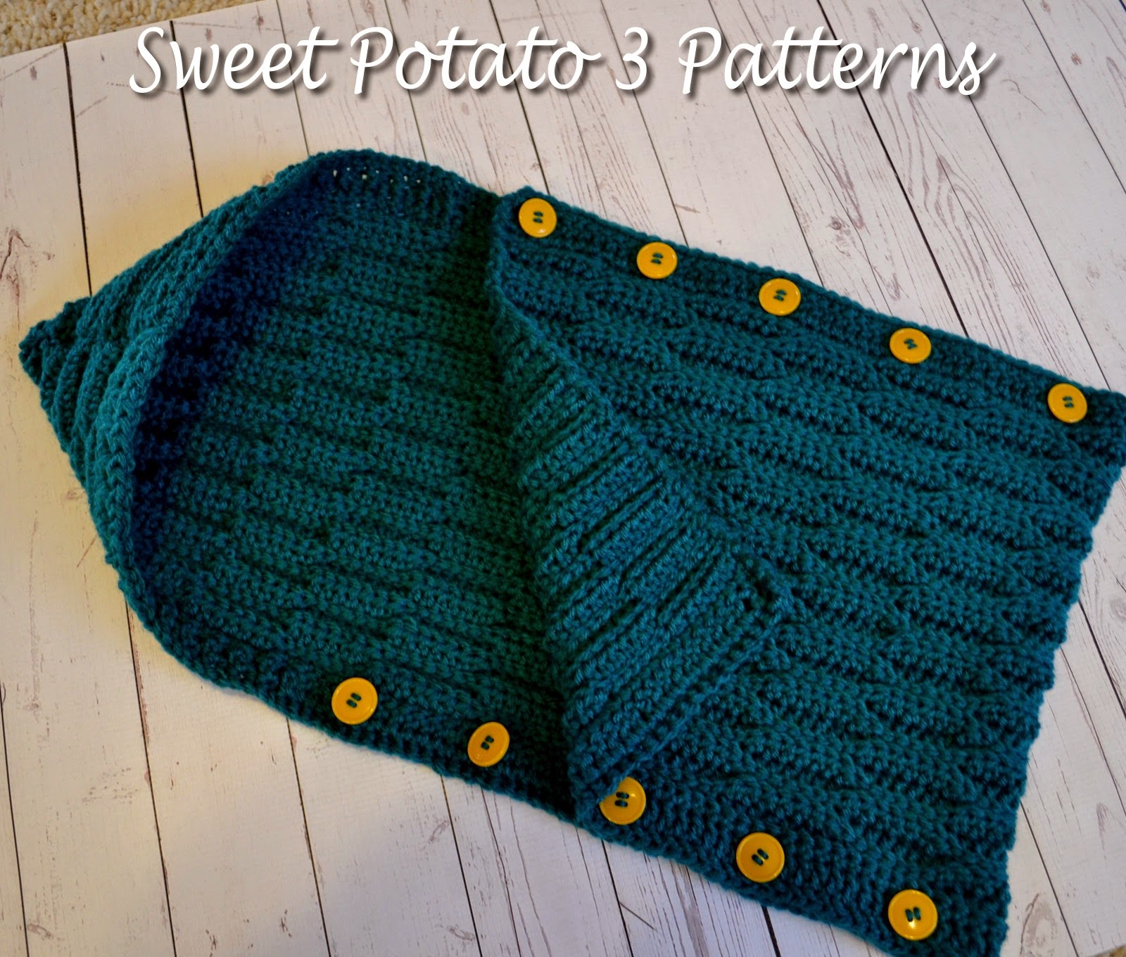 Button Up Waves Hooded Cocoon Pattern Release - Sweet Potato 3