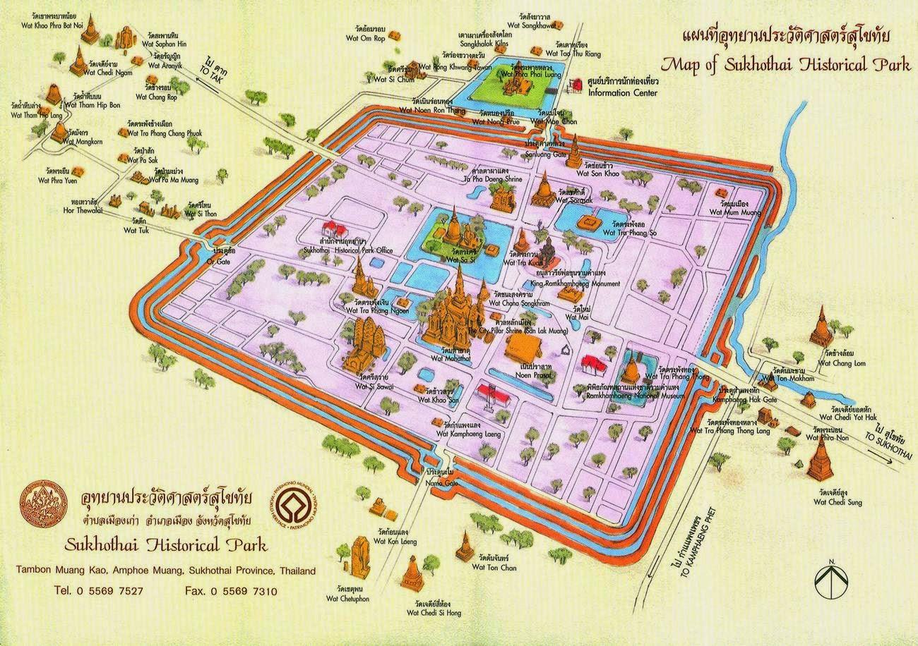 mapa de Sukhothai