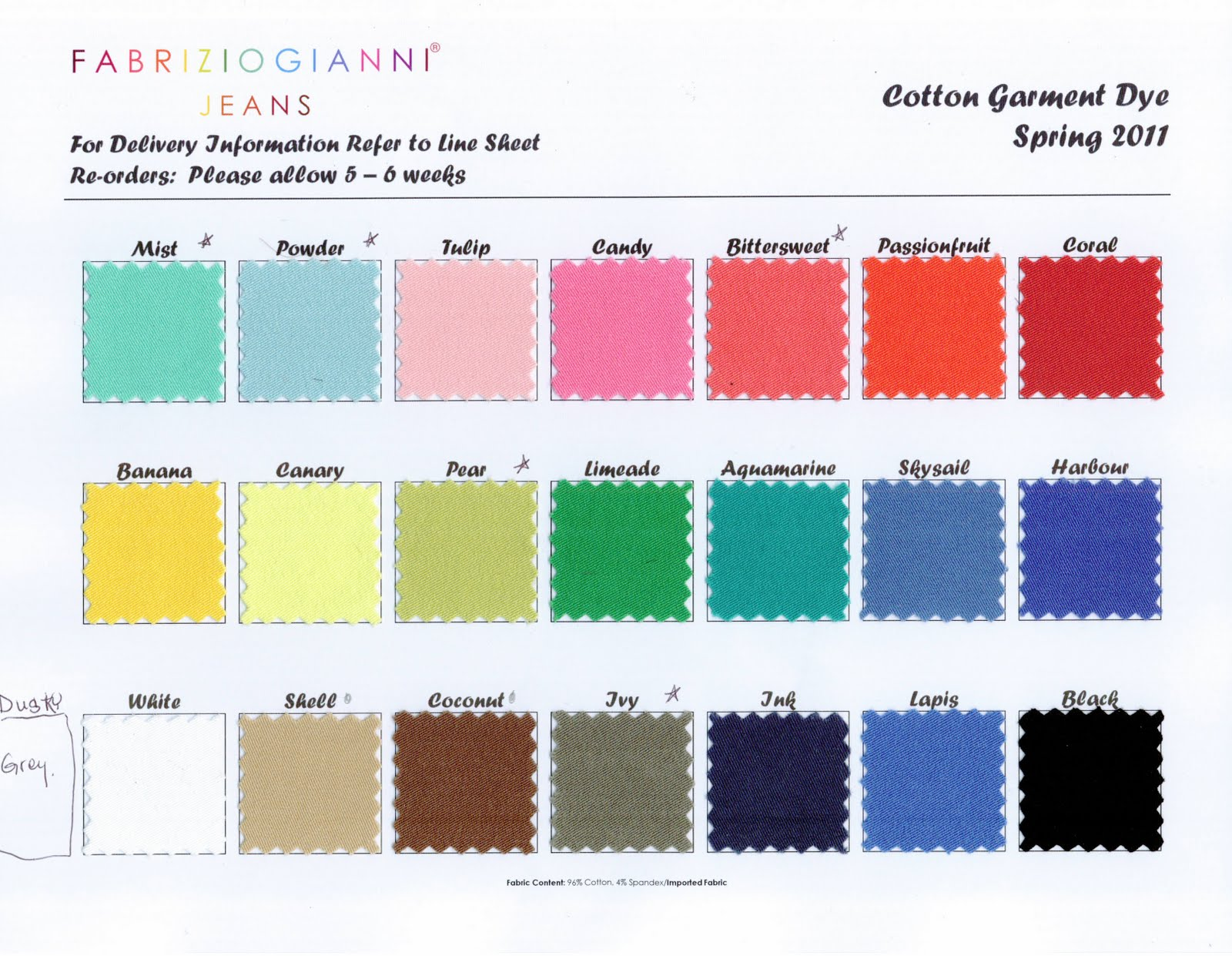 Bambulei color charts for springsummer 2011 infobambulei or call 808 823 8641 if you would like to pre order any of these colors if you would like to see any other companies color chart nvjuhfo Gallery
