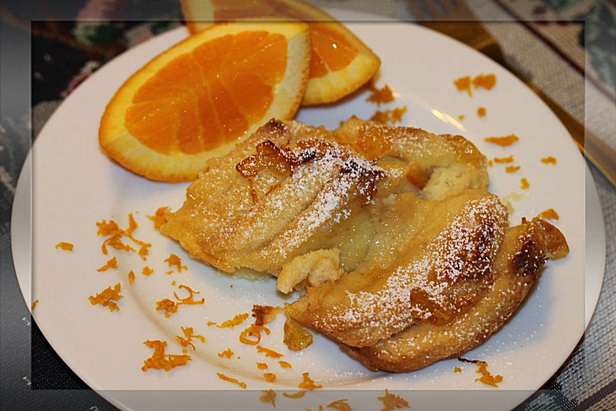 Simply Lecker: Orange Marmalade bread and butter Pudding / Brotpudding
