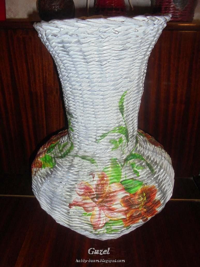 плетение из газетных вазочки трубочек мастер класс