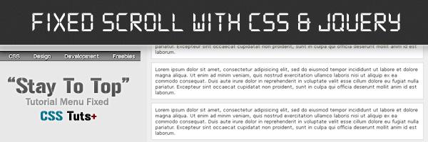 Fixed Menu Dengan CSS3 Dan Jquery