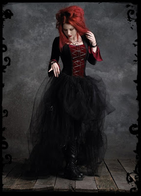Custom Gothic Couture Velvet Lace Up