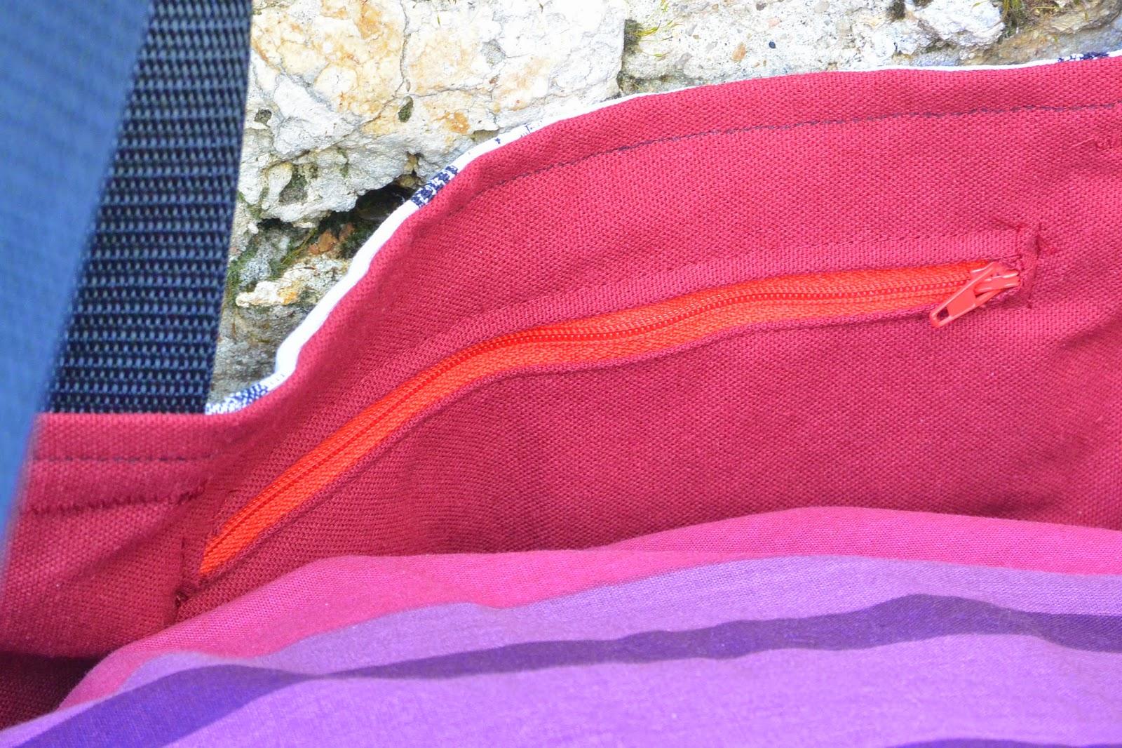 Sac XXL en tissu jacquard, grosse capacité de rangement. poche intérieure. Rouge, I love New york