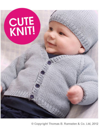 Free Baby Knitting Patterns Dk : Eight-by-Six: free knitting pattern - baby cardigan Twilleys Freedom Sincere DK